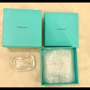 Tiffany & Co. Elsa Peretti Wave Dish Etched Signed